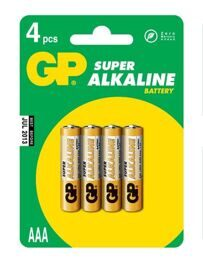 Батарейки АА GP Super Alkaline 15A-CR4