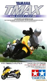 24256 Tamiya 1/24 Yamaha TMAX with Rider Figure...