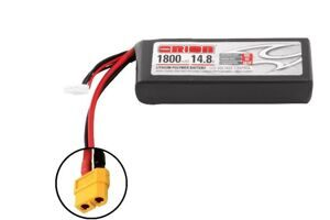 Аккумулятор Team Orion Batteries 14.8V 1800mAh 50C LiPo XT60 plug + LED status